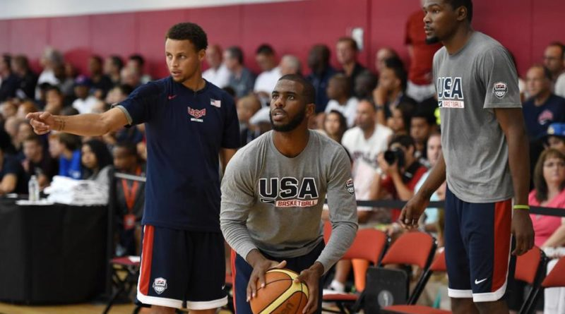 Chris Paul, Dwayne Wade and LeBron James Show a Young Stephen Curry Love